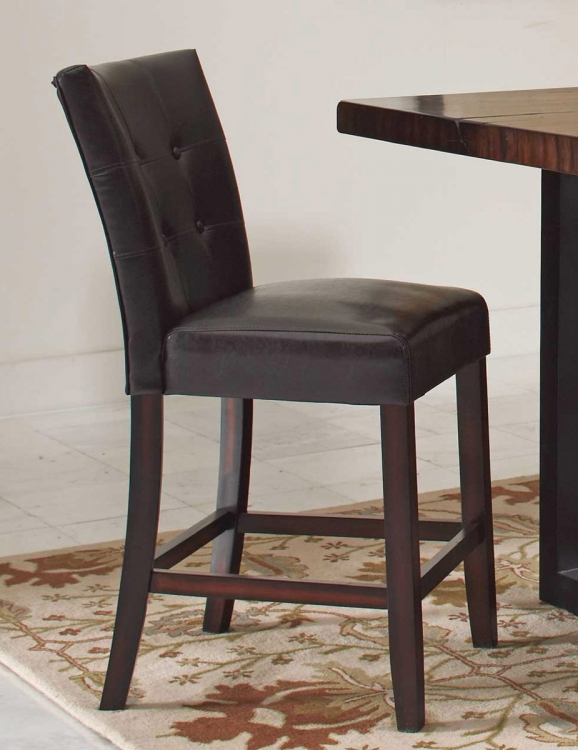 Milton Brown Counter Height Stool - Rich Cherry