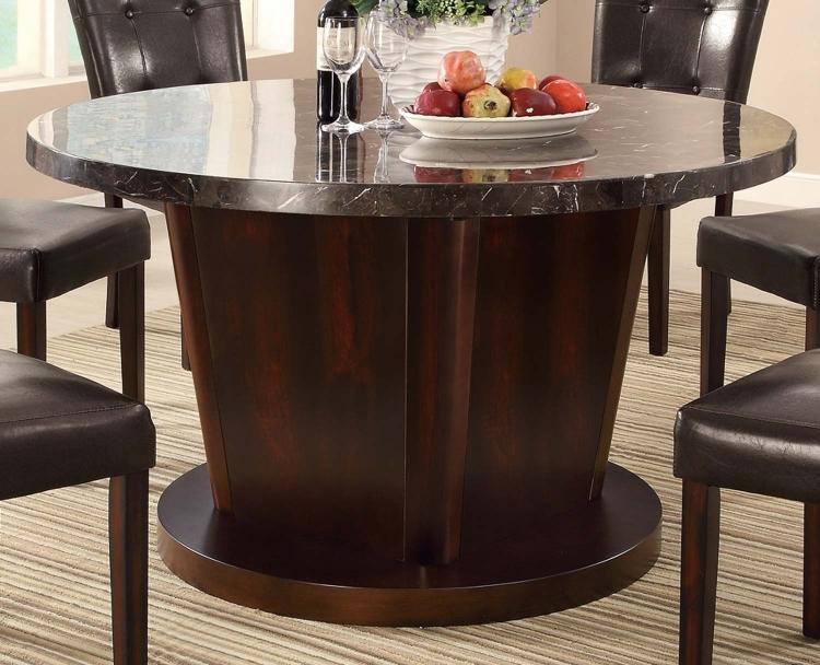 Milton 54in Round Table - Dark Top - Cappuccino