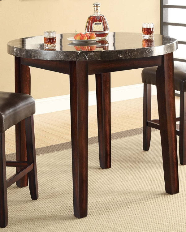 Milton Round Counter Height Table - Dark Top - Rich Cherry
