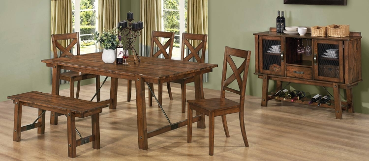 Lawson Dining Set - Rustic Oak