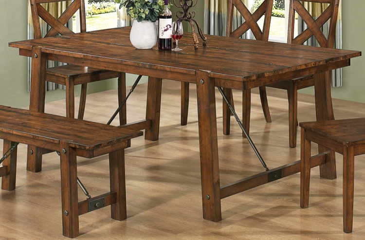 Lawson Dining Table - Rustic Oak
