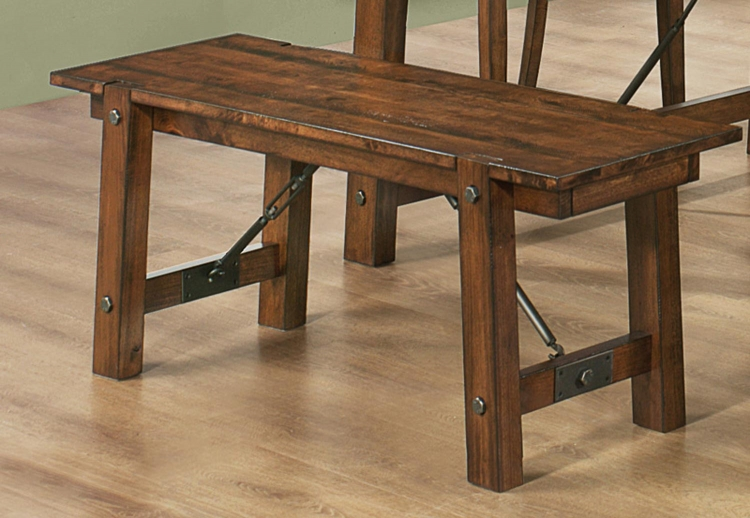 Lawson Bench - Rustic Oak