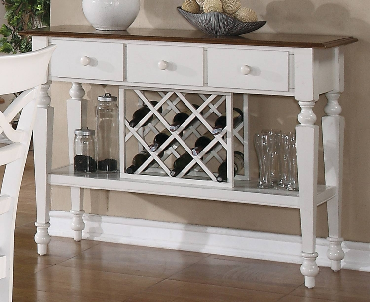 Ashley Server - Oak - Antique White
