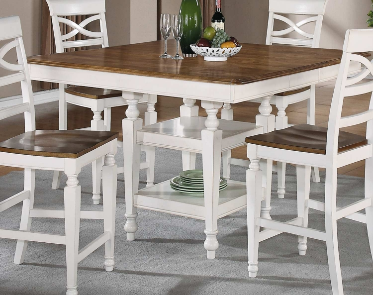 Ashley Counter Height Table - Oak - Antique White