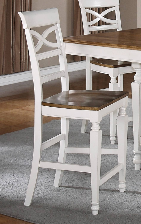 Ashley Counter Stool - Oak - Antique White