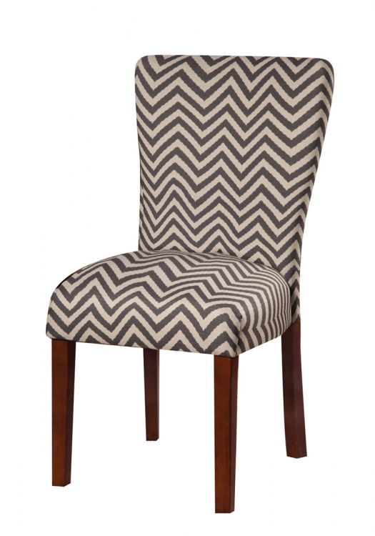 Parson Side Chair - Grey Chevron