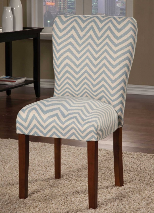 Parson Side Chair - Blue Chevron