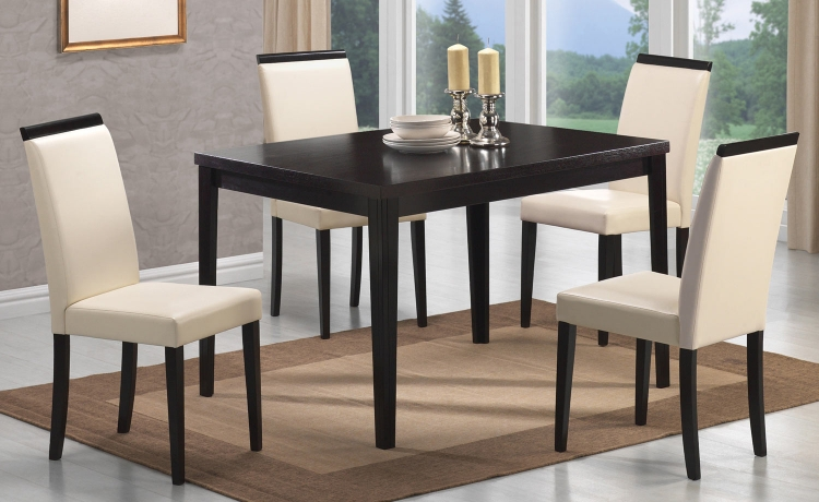 Pompeo Dining Set - Cappuccino