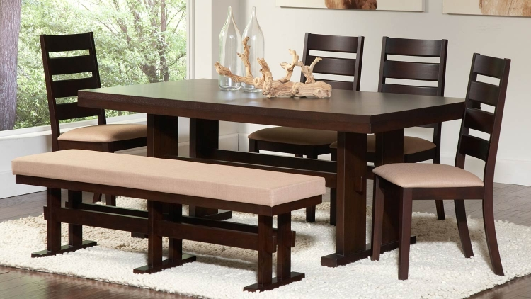 Travis Dining Set - Cappuccino