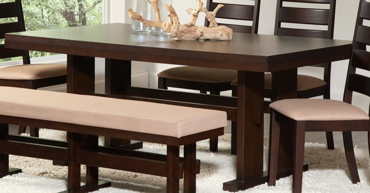 Travis Dining Table - Cappuccino