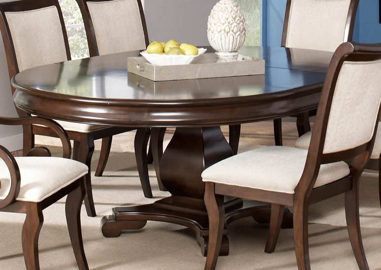 Harris Dining Table - Dark Cherry