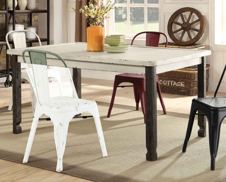 Keller Rectangular Dining Table - Antique White