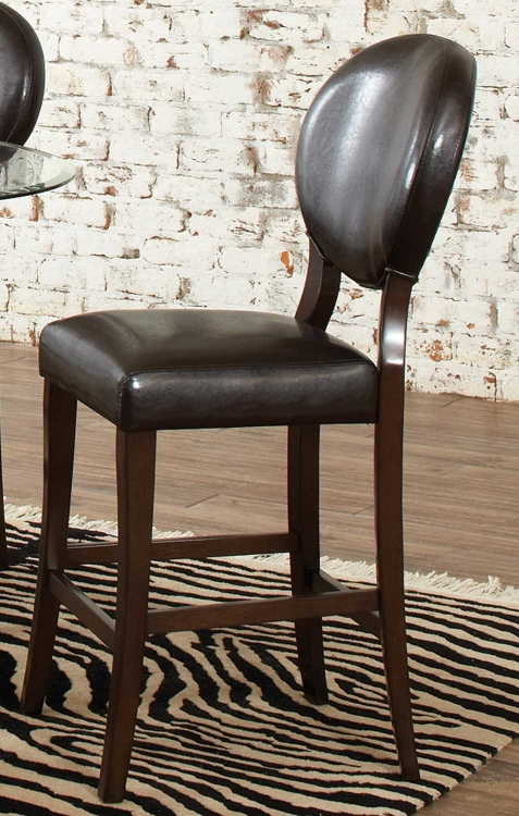 Daphine Counter Height Stool - Brown Cherry