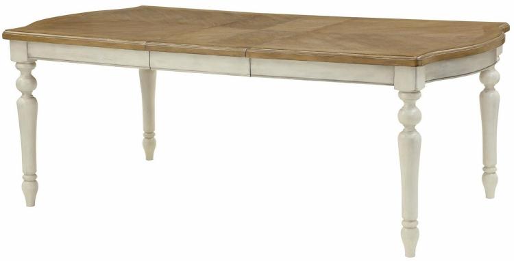 Rebecca Dining Table - Antique White/Oak