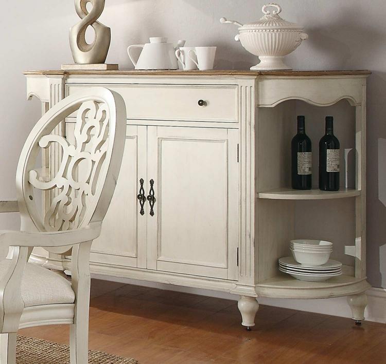 Rebecca Server - Antique White/Oak