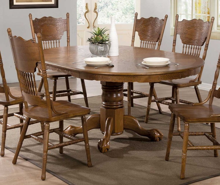 Brooks Dining Round/Oval Table - Oak