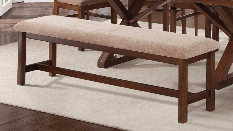 Camila Bench - Walnut