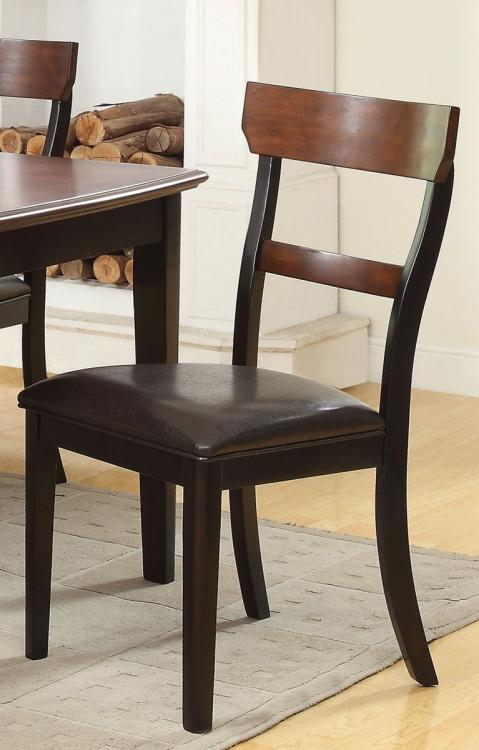 McKay Side Chair - Dark Brown/Black
