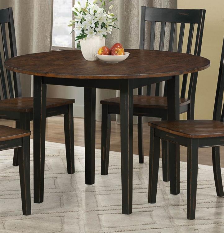 Kyla Dining Table - Oak/ Black