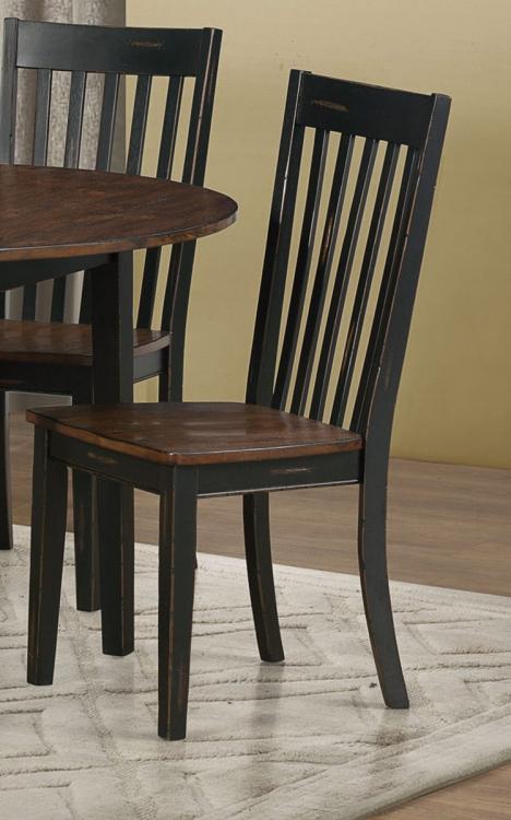 Kyla Side Chair - Oak/ Black