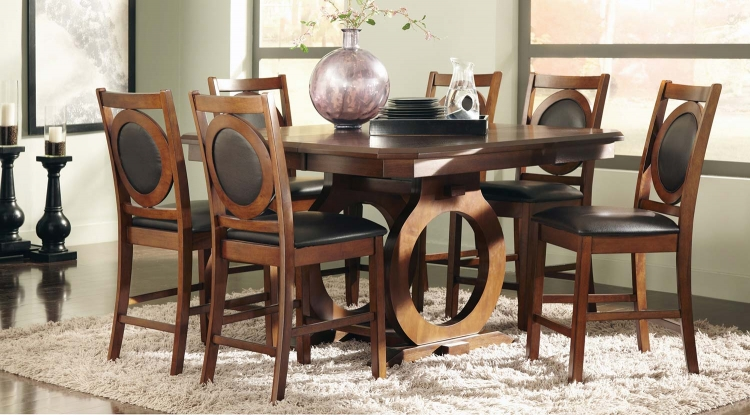 St John Counter Height Dining Set - Oak