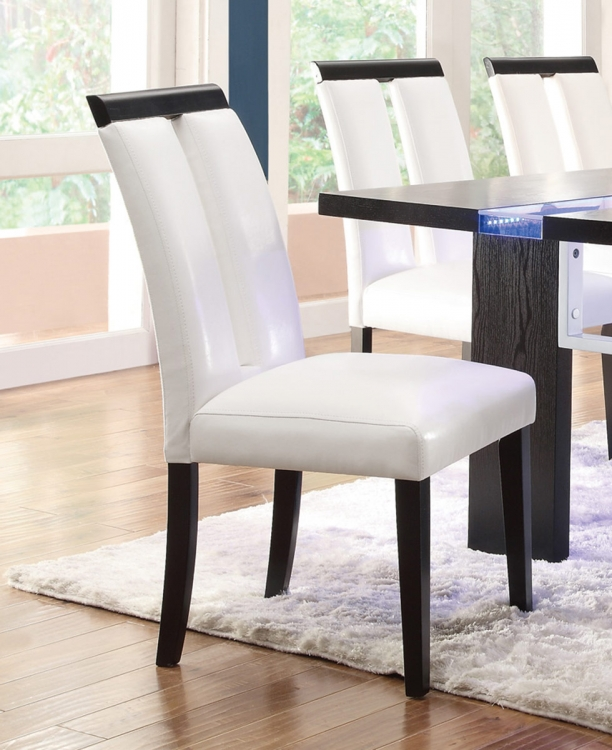 Kenneth Side Chair - White Vinyl