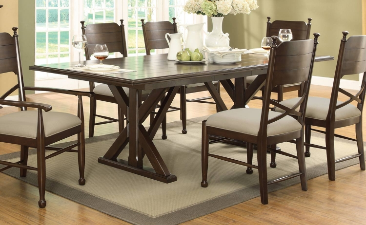 Camilla Dining Table - Brown Cherry