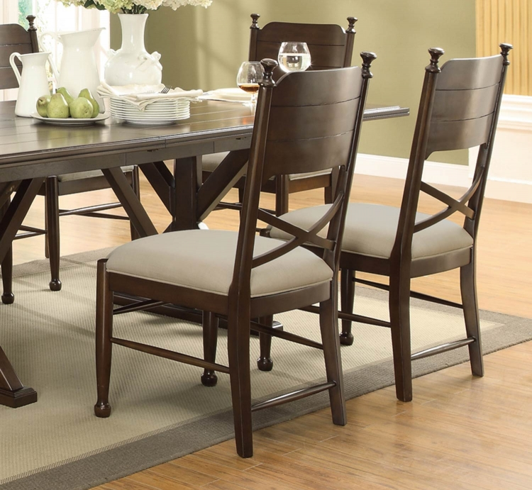 Camilla Side Chair - Brown Cherry
