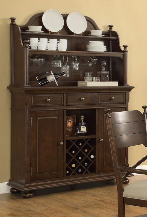 Camilla Buffet/Hutch - Brown Cherry