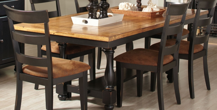 Charlotte Dining Table - Oak/ Black