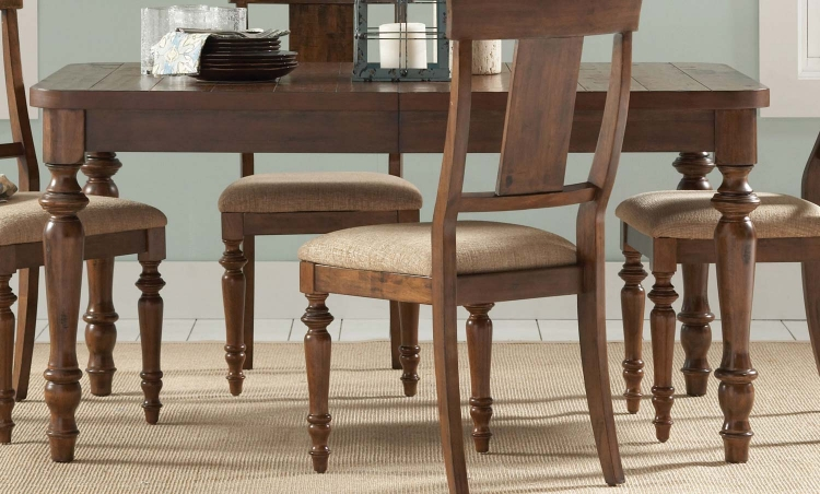Jonas Dining Table - Rustic Brown