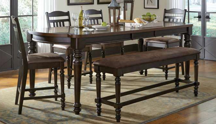 Mulligan Counter Height Dining Set - Latte/Espresso
