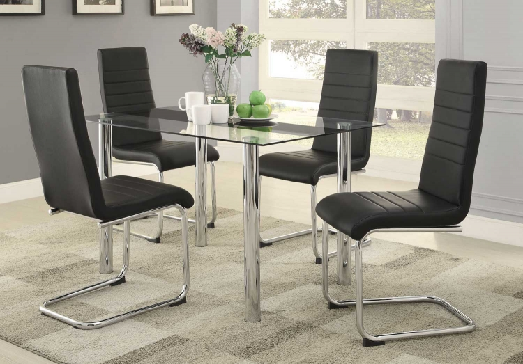 Evanston Dining Set - Polished Chrome
