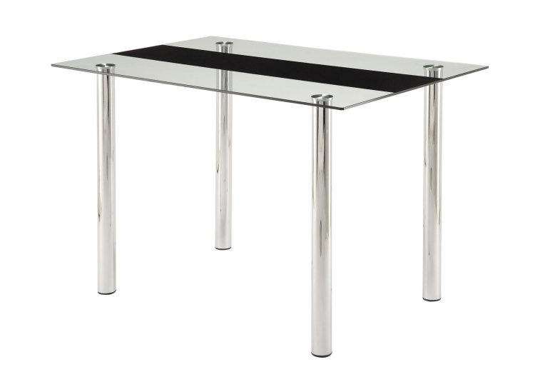 Evanston Dining Table - Polished Chrome