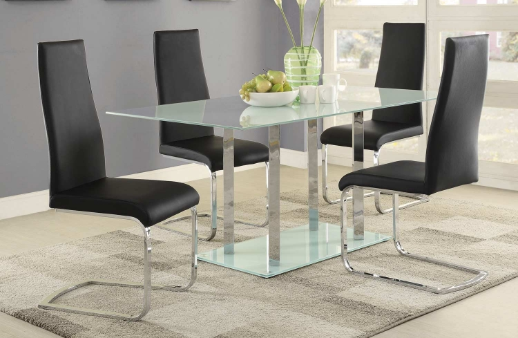 Geneva Dining Set - Chrome