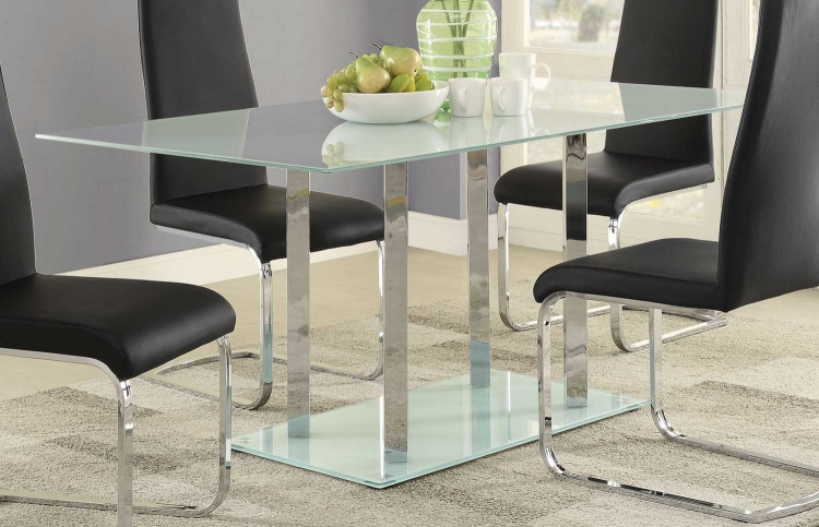 Geneva Dining Table - Chrome