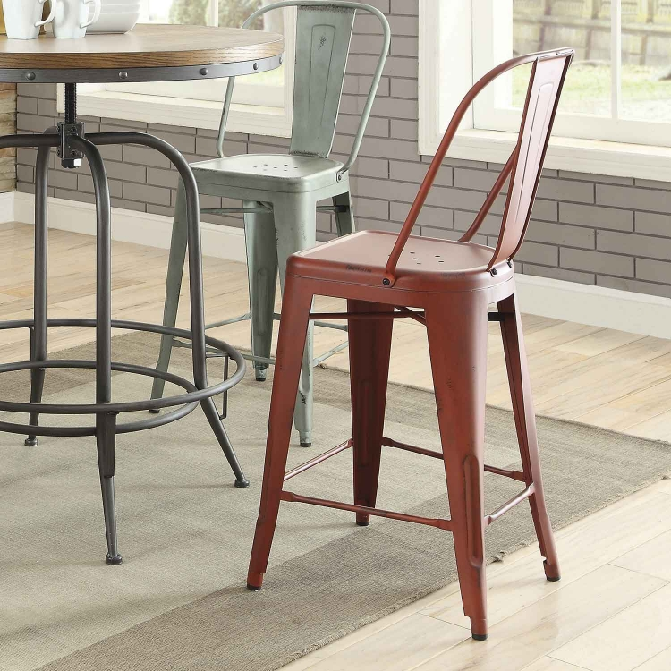 Lahner Counter Height Stool - Red