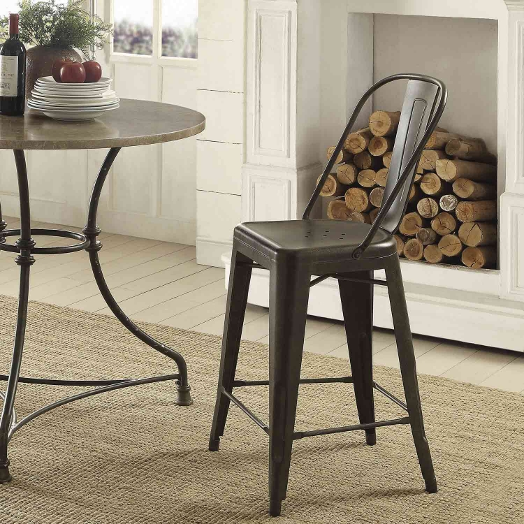 Lahner Counter Height Stool - Antique Brown