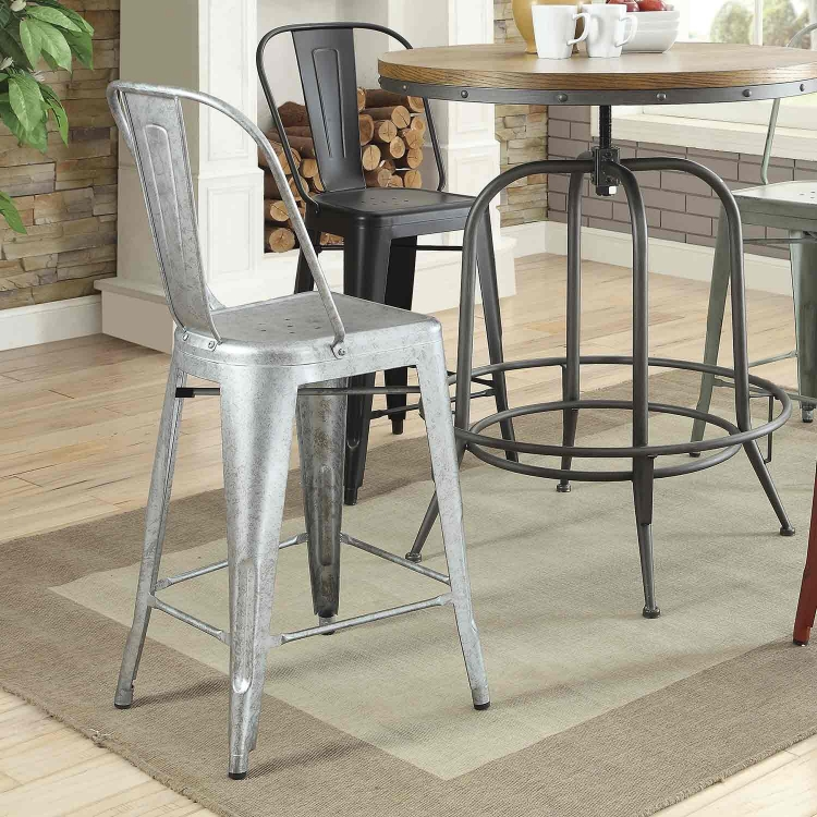 Lahner Counter Height Stool - Gun Metal