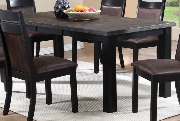 Arlington Dining Table - Wire Brushed Oak/Antique Black
