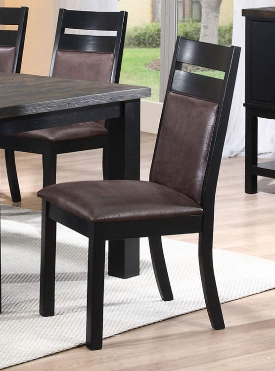 Arlington Side Chair - Wire Brushed Oak/Antique Black