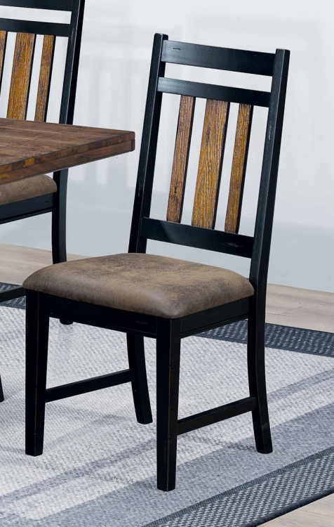 Waller Side Chair - Rustic Brown/Black