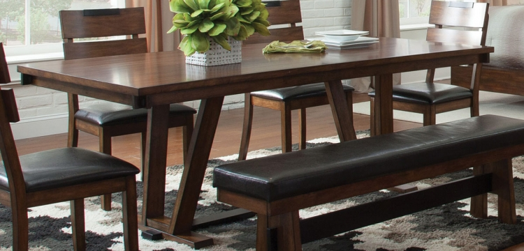 Avalon Dining Table - Dark Amber - Coffee Bean
