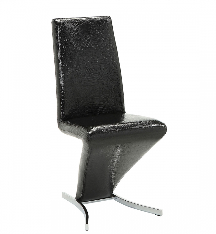 Barzini Side Chair - Black Leatherette