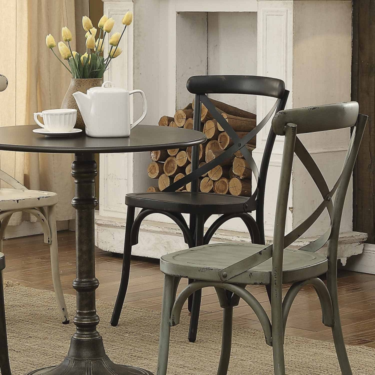 Nagel Dining Side Chair - Dark Rustic Metal