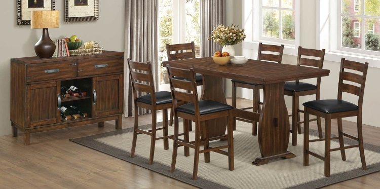 Urbana Counter Height Dining Set - Vintage Cinnamon