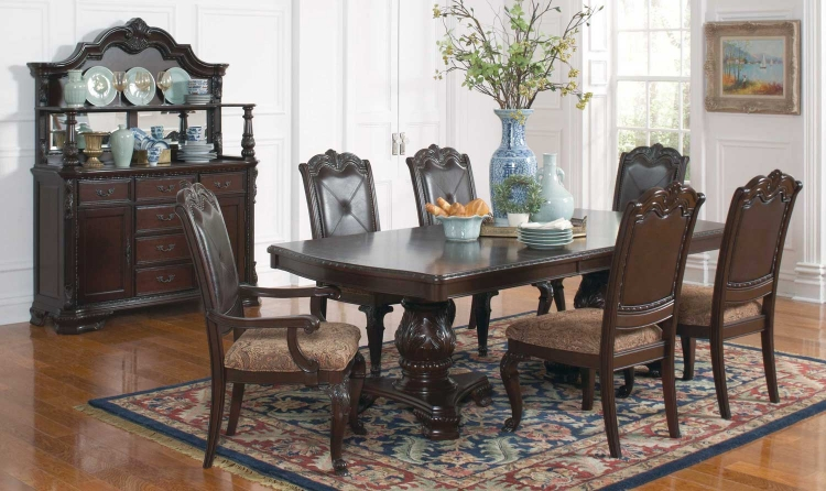Valentina Dining Set - Brown Red