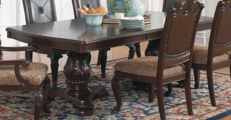Valentina Dining Table - Brown Red