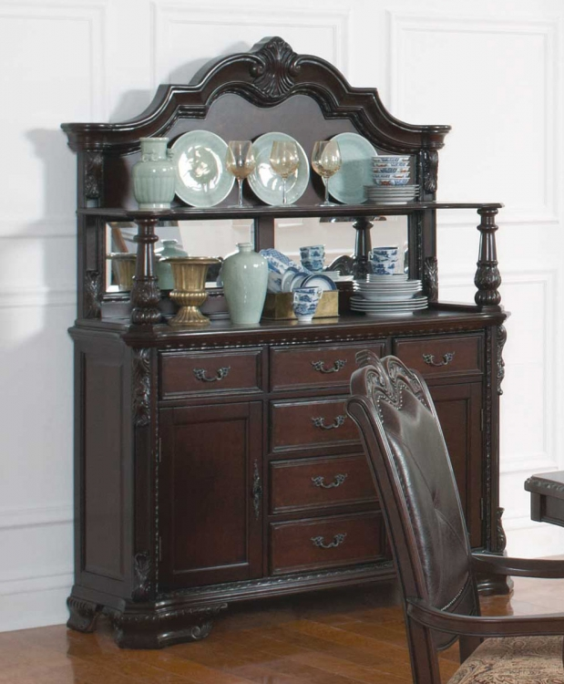 Valentina Buffet/Hutch - Brown Red