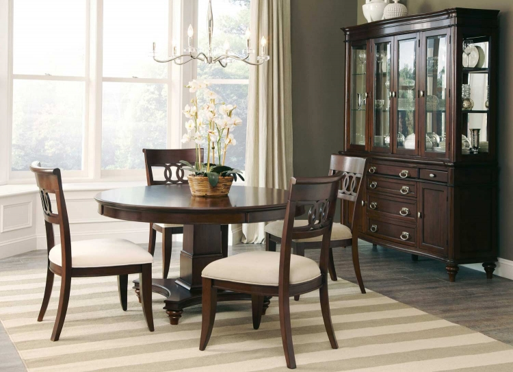 Alyssa Round Dining Set - Walnut